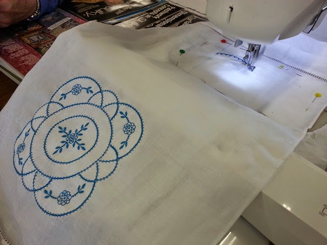 Punch with judy s machine embroidery retreat day two