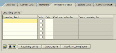 VD01 - Create Customer - Unloading Points