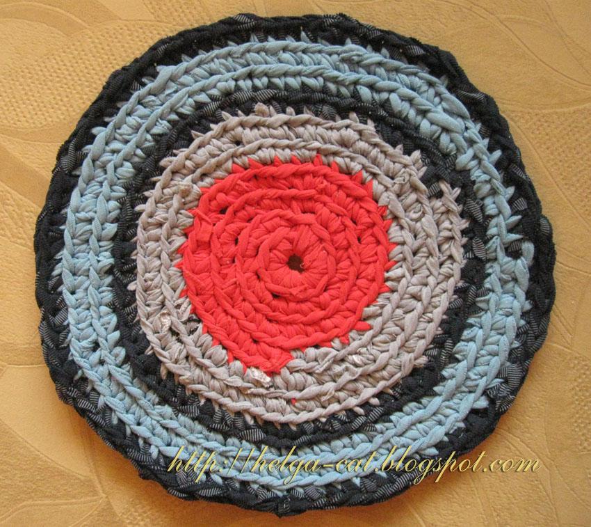 Вязание крючком пошаговое коврик 904
