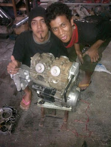 CB 2 cylinder segaris blok head Scorpio