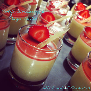 Vanilla, Strawberry & Ginger Parfait