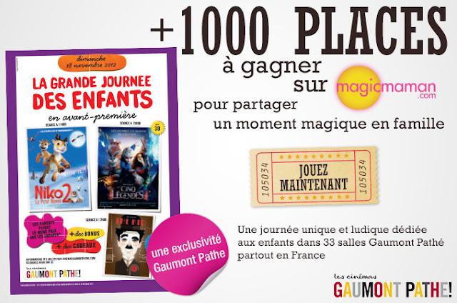 Grande Journée des Enfants aux cinémas Gaumont/Pathé + jeu concours