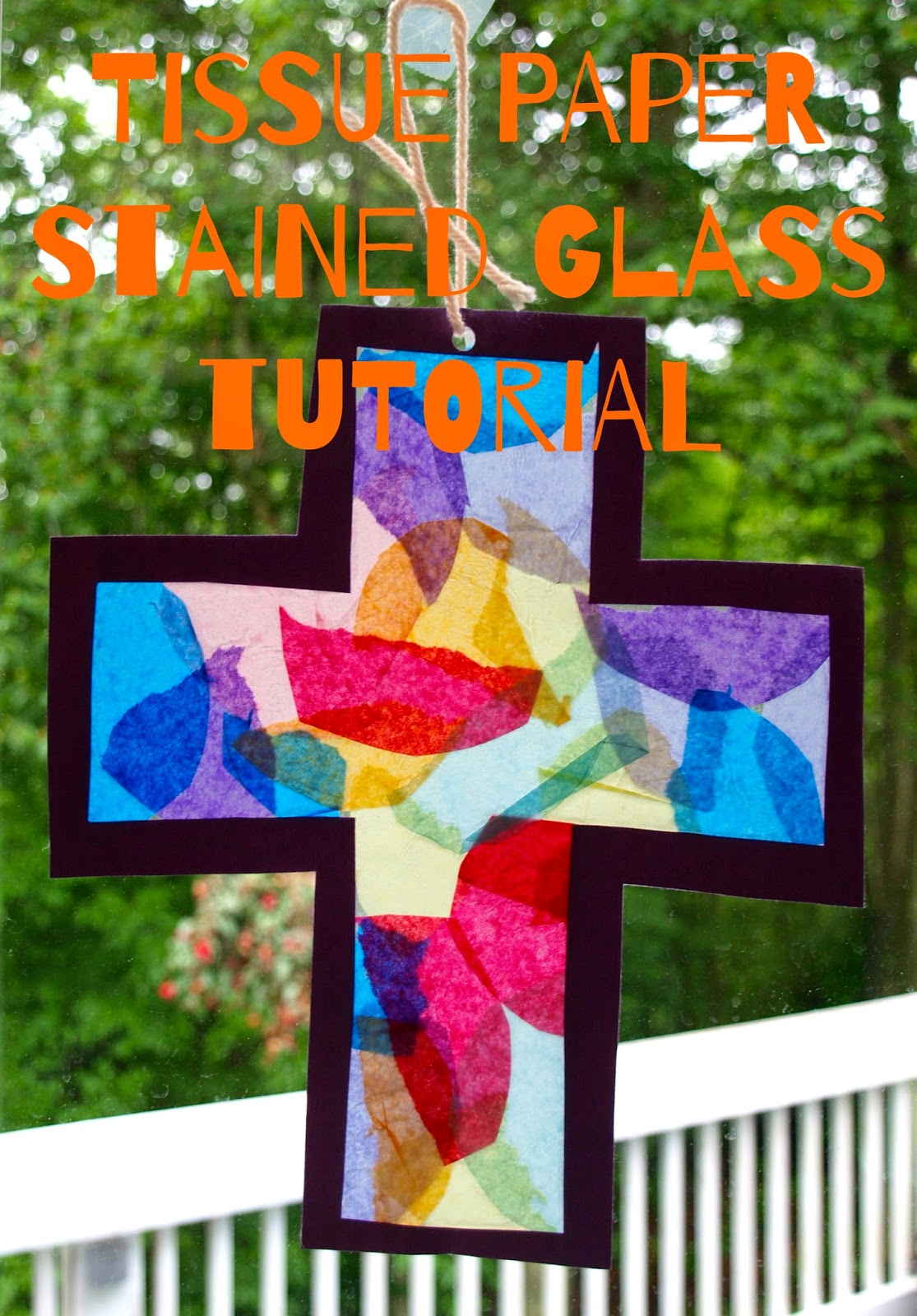 Glimmer creations tissue paper stained glass craft tutorial for Stained glass window craft with tissue paper