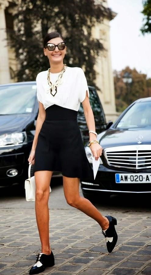 Street Style Black&White Shoes