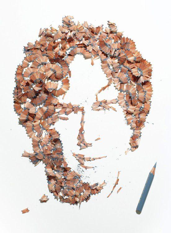 4 Amazing Pencil Shavings Portraits Wallpapers