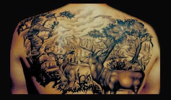 hunting tattoos tattoo designs. Black Bedroom Furniture Sets. Home Design Ideas
