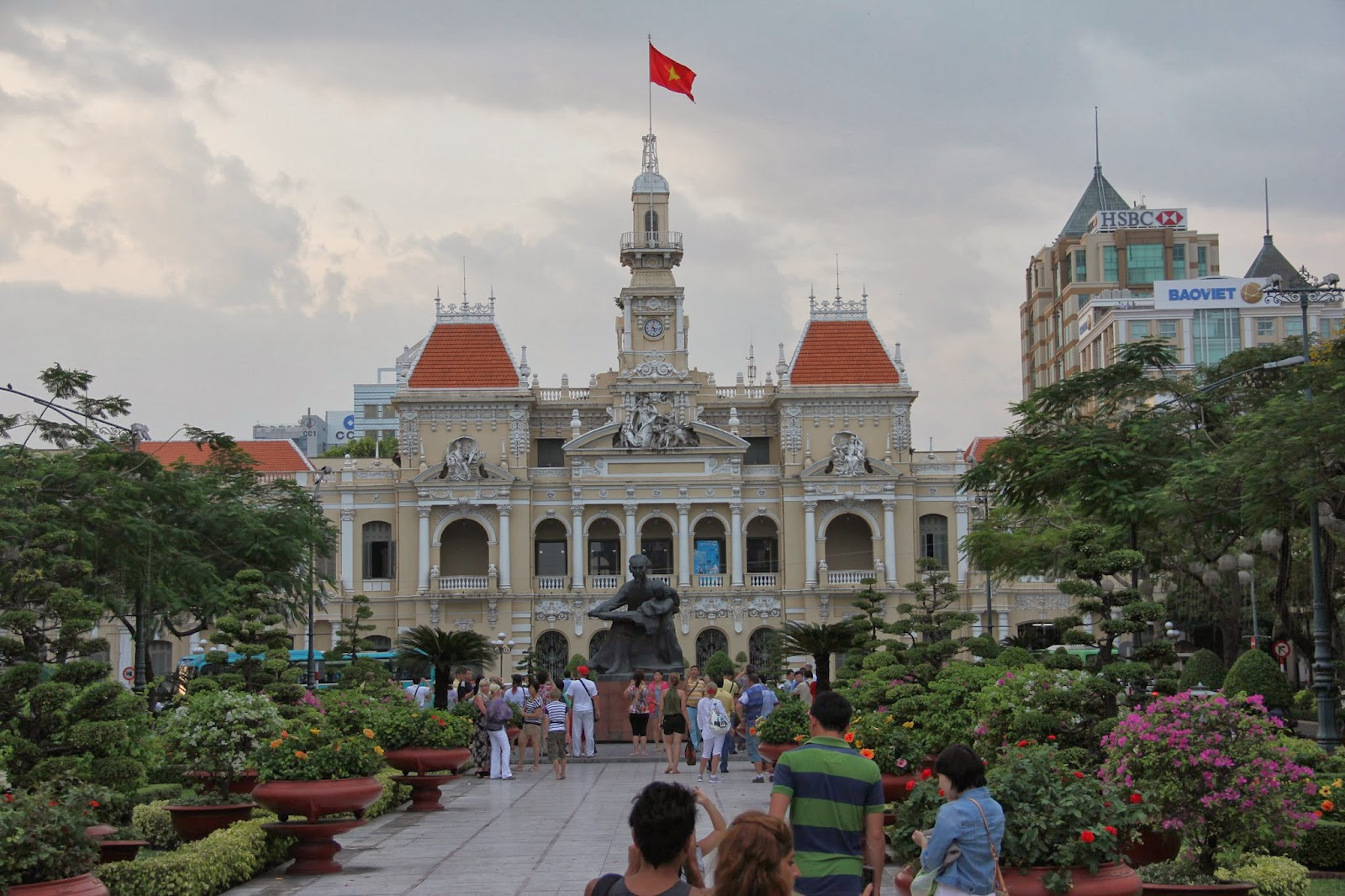 The French Colonial-style former City Hall of Saigon, built 1902-1908.