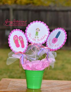 handmade spa_birthday_table_center_piece