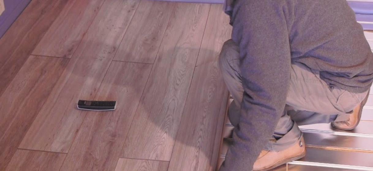 4eme etape de pose du plancher chauffant sec et mince Caleosol Eco+