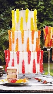 Rock Candy Wedding Cake - Candy Cakes