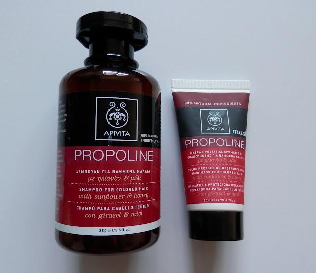 Opinión Apivita Propoline champú y mascarilla para cabellos teñidos