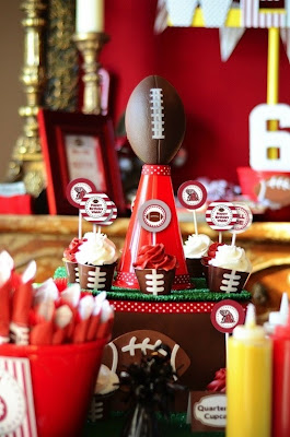 Football Tablescape@northmanspartyvamps.com