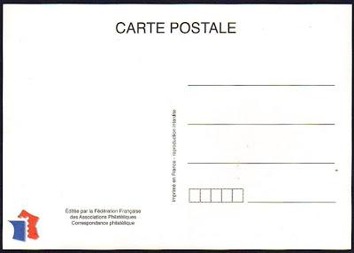 carte postale timbree