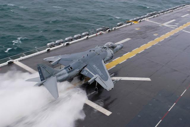 Harrier Jump Jet Landing