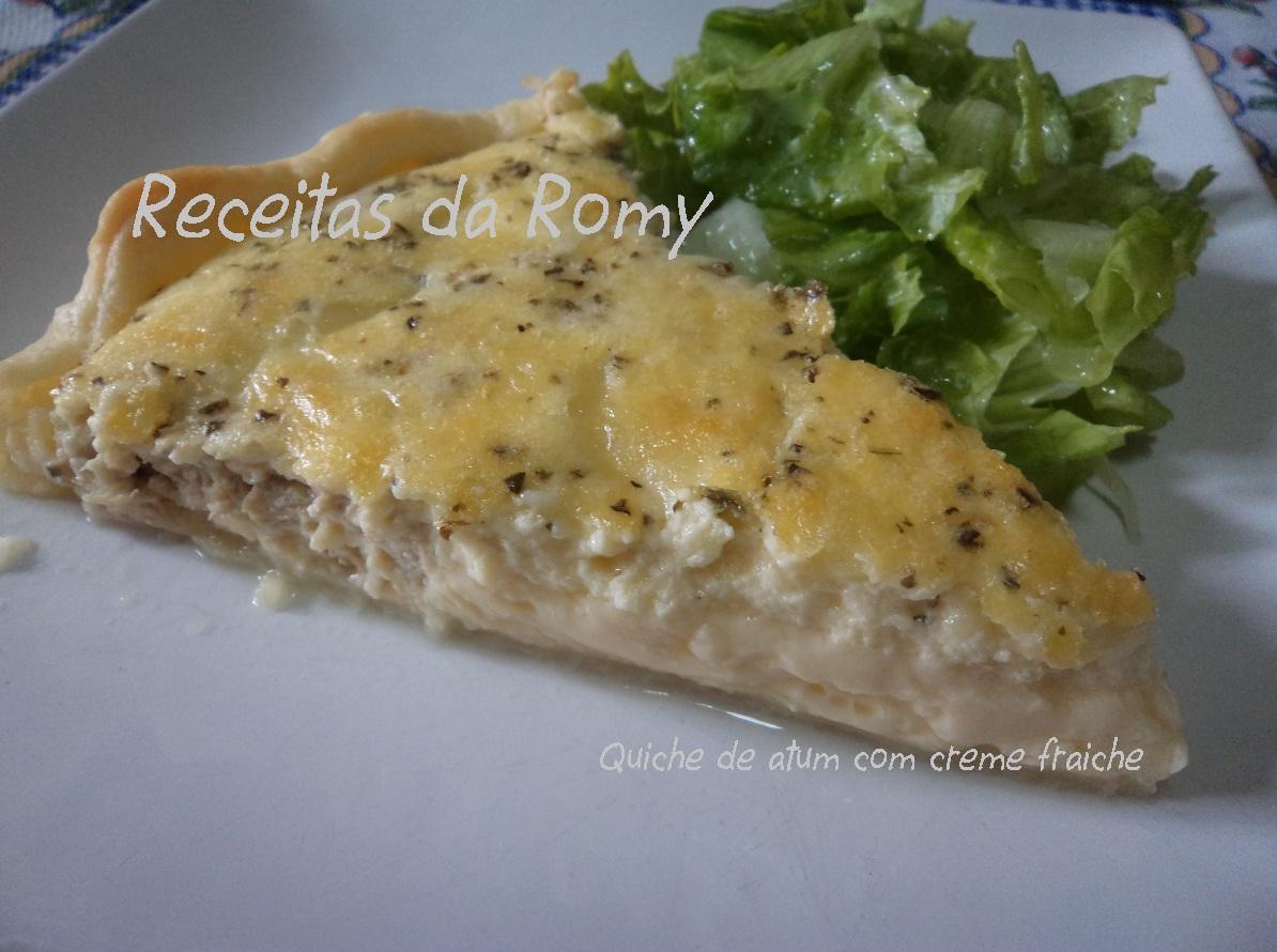 Receitas da Romy: Quiche de atum com creme fraiche