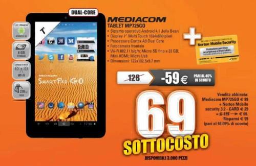 In vendita a soli 69 euro il Mediacom Smart Pad 725 Go, tablet da 7 pollici android dual core