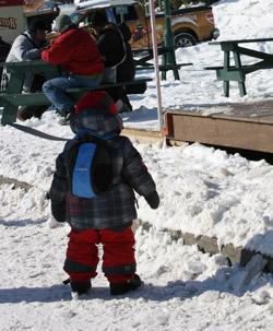 ropa, nieve, frío, bajo cero