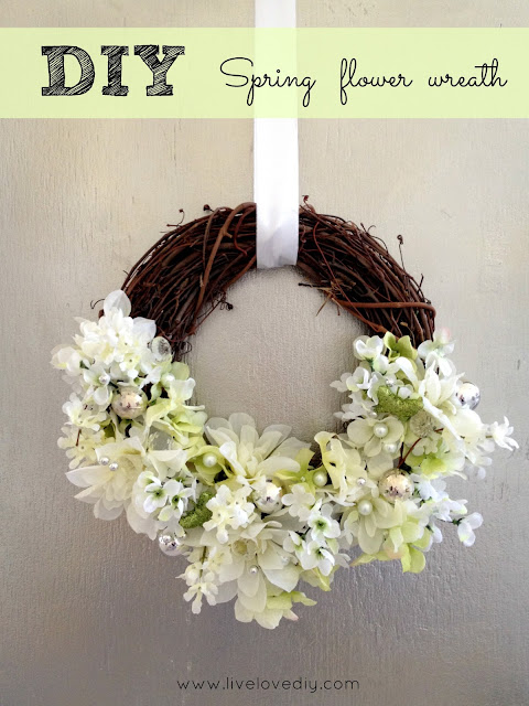 How to make a floral wreath with dollar store supplies