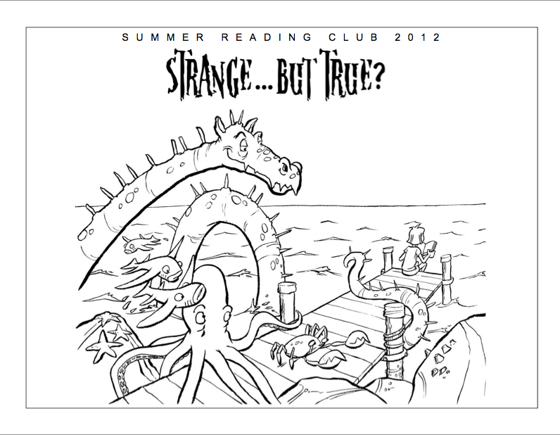 Sea Monster Coloring Pages