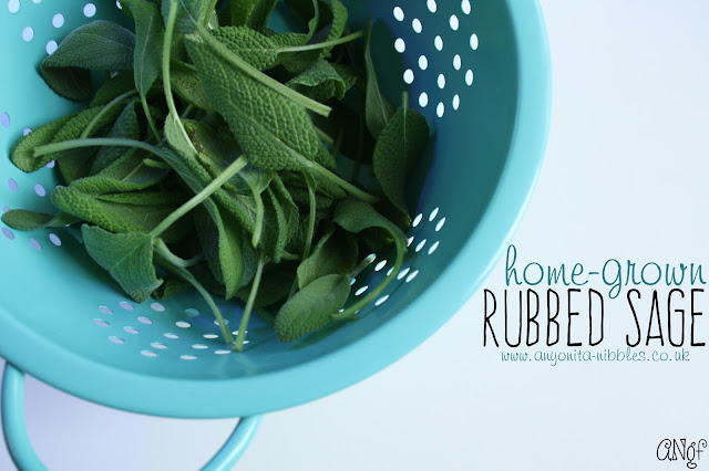 Making rubbed sage from home-grown sage. | Anyonita-nibbles.co.uk