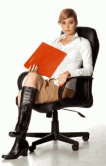 Gambar busana kerja eksekutif muda