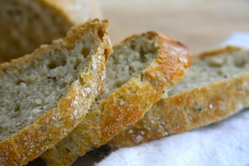 Shopgirl: No-Knead Pesto Bread