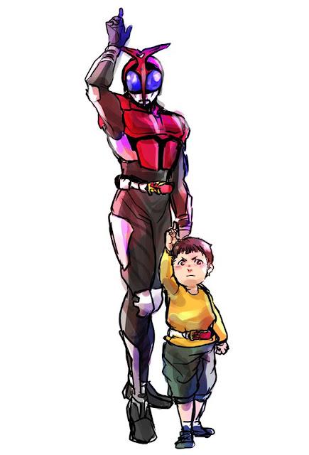 Gambar, Ilustrasi, Kamen Rider, Ksatria Baja Hitam,  Masa Kecil, Kamen Rider Kabuto