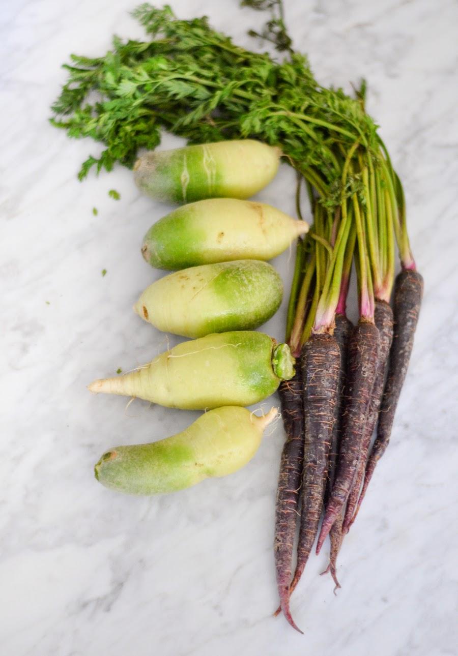 Root Vegetable Latkes + FarmBox LA Giveaway | Luci's Morsels