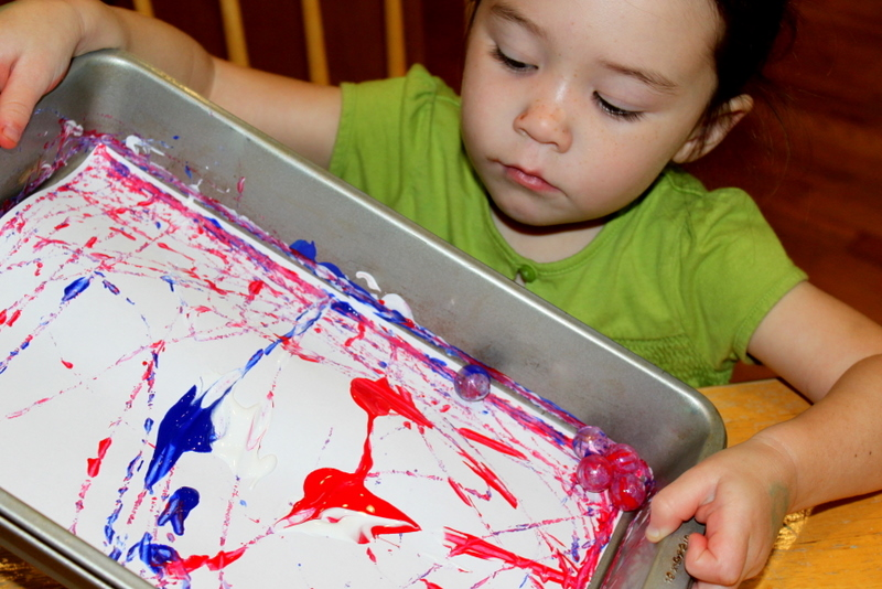 Marble Painting Juggling With Kids