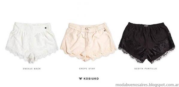 Shorts 2014- MODA. Kosiuko verano 2014.