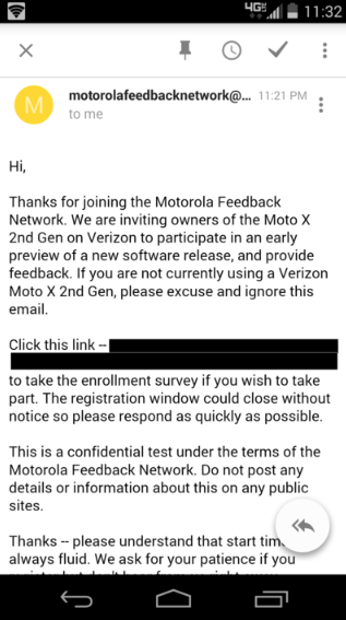 Moto X soak test invite