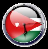 علم الأردن  jordan flag clock