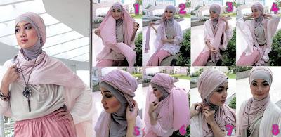 url2 Cara Memakai Jilbab Pashmina Untuk Wajah Bulat