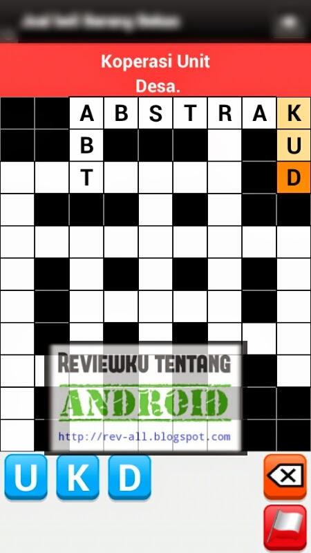 Mulai bermain permainan android - Teka teki silang bahasa indonesia - Bermain sambil asah otak (rev-all.blogspot.com)