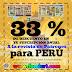 24, 25 Y 26 de Junio, 33% para manualistas de Perú