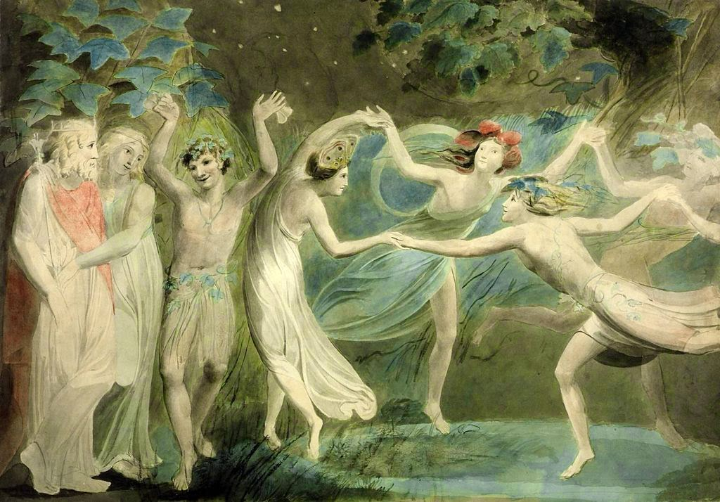 Oberon, Titania and Puck with Fairies Dancing. William Blake. c.1786.jpg