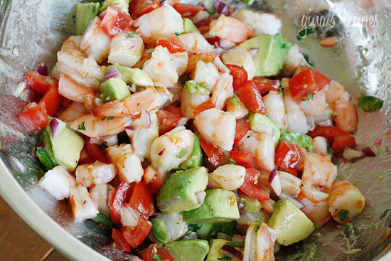 Riches to Rags* by Dori: Zesty Lime Shrimp and Avocado Salad