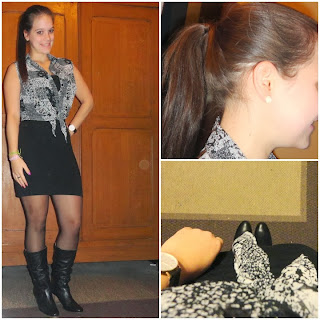 Clothes & Dreams: OOTD: Classy crop top: collage