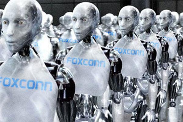 Robot Gantikan Manusia di Pabrik Foxconn