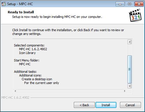 Instal MPC-HC O8
