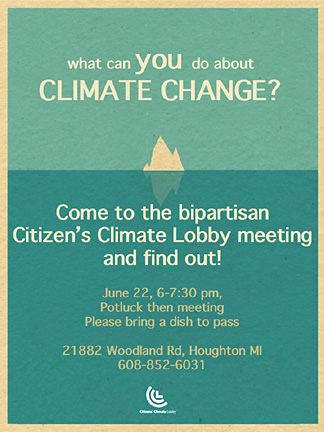 Citizens' Climate Lobby to meet June 22