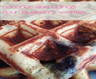 Gluten & Dairy Free Blueberry Waffles {with Coconut & Quinoa Flours}