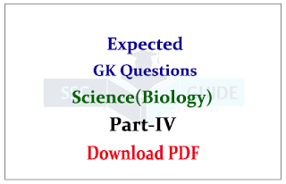Expected General Awareness Questions from Science (Biology)