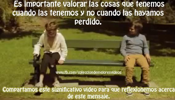 vídeo, valorar mensaje