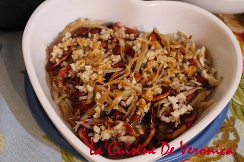 La Cuisine De Veronica 蒜蓉蒸白飯魚乾 + 魷魚仔乾