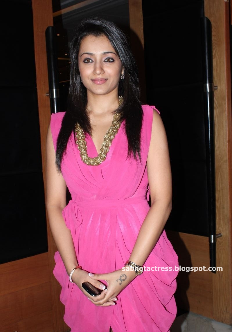 Trisha Cute and Gorgeous Photo Gallery in Pink Dress at JFW Magazine