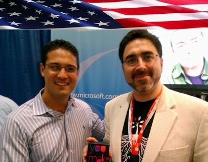 Sam Bazzi of Arcs, right, with Jacob Mullins of Microsoft