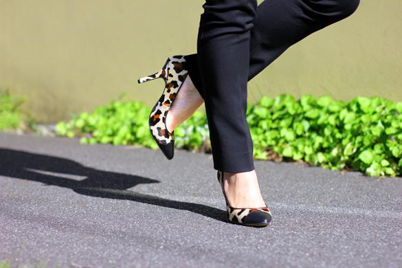 Zara Cap Toe Leopard Print Heel