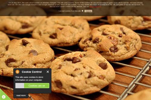 Implementações para cumplir com a diretiva dos cookies
