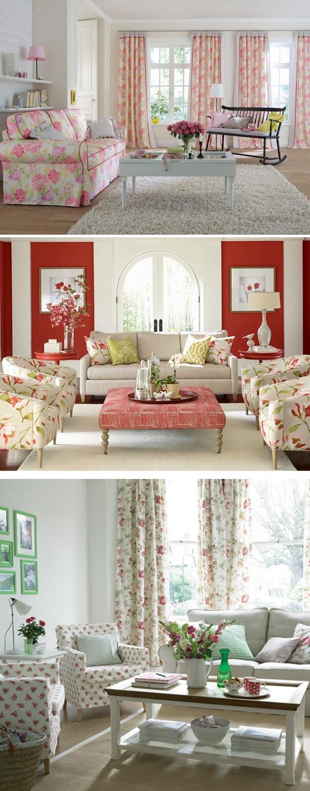 decoração floral para sala, shabby chic, retro, vintage